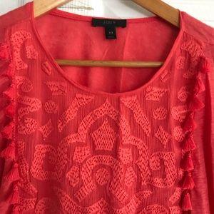 J. Crew Tops - J. Crew linen embroidered top 💫 cotton 🌟 xxsmall